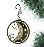 Moon and star ornament.  Each comes with a special decorative hook