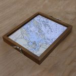 Hand made wood serving tray with custom chart image