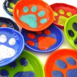 Fused Glass Paw Print Dishes