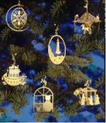 24k gold plated Christmas ornaments