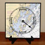 Artist inspired custom tide clock on easel