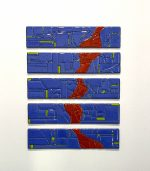 Red River - fused glass wall art